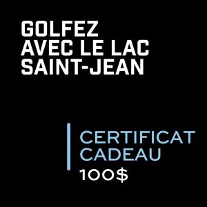 Golf Saint Prime Certificat cadeau 100$
