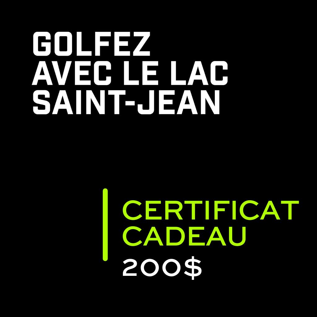 Golf Saint Prime Certificat cadeau 200$