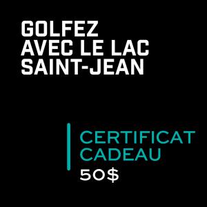 Golf Saint Prime Certificat cadeau 50$
